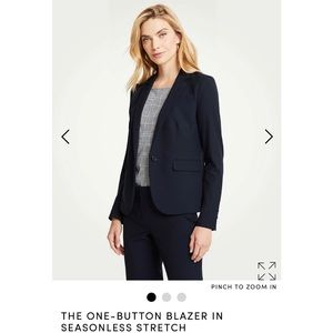 Ann Taylor One Button Blazer